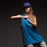 Girl hip-hop dancer Royalty Free Stock Photo