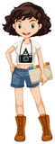 Girl hipster Stock Images