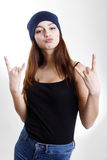 Girl hipster Royalty Free Stock Photography