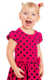 Girl with his mouth wide open Royalty Free Stock Photos