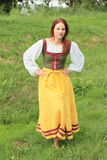 Girl in historical dress Royalty Free Stock Photography