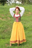 Girl in historical dress Stock Photography