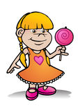 Girl hold lollipop candy Stock Image