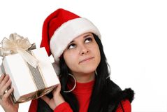 Girl Holding A Gift Box Royalty Free Stock Image