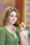 Girl Holding Apple Royalty Free Stock Photography