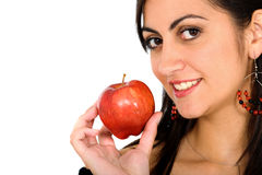Girl holding an apple Royalty Free Stock Photography