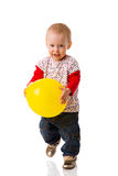 Girl holding ball Stock Images
