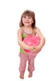 Girl holding ball Royalty Free Stock Images
