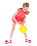 Girl holding ball Royalty Free Stock Photos