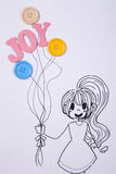 Girl holding balllon Royalty Free Stock Photography