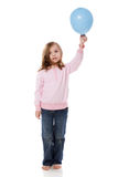 Girl Holding Balloon Stock Photos