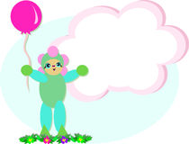 Girl Holding a Balloon Royalty Free Stock Images