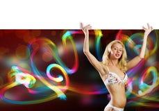 Girl holding banner Royalty Free Stock Image