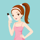 Girl Holding Beauty Packaging Stock Photo