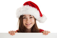Girl holding blank board Royalty Free Stock Images