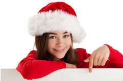 Girl holding blank board Stock Photos