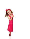 Girl holding a blank placard Royalty Free Stock Photo