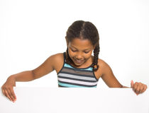 Girl Holding board Stock Photography