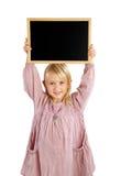 Girl holding board Stock Image