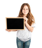 Girl holding board Royalty Free Stock Photos