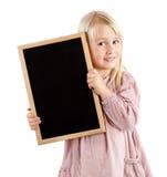 Girl holding board Stock Photos