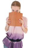 Girl holding a book Royalty Free Stock Photo