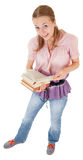 Girl holding a book Royalty Free Stock Photography