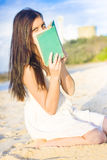 Girl Holding Book Royalty Free Stock Photography