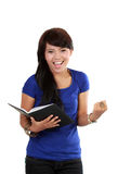 Girl holding book Royalty Free Stock Images
