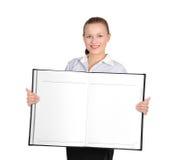 Girl holding book Stock Photos