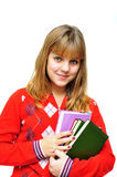 Girl holding books Royalty Free Stock Photography