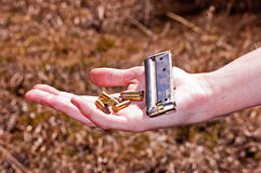 Bullets and clip Royalty Free Stock Images