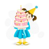Girl holding Cake Stock Photography