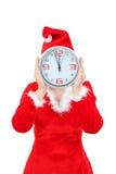 Girl holding Christmas hours. Stock Image