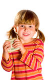 Girl holding dollars Royalty Free Stock Photos