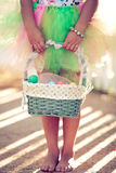 Girl holding an Easter basket Royalty Free Stock Photography