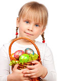 Girl holding Easter basket Stock Image