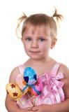 Girl Holding Easter eggs Royalty Free Stock Image