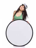 Girl holding emply white board Stock Photography