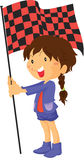 A Girl Holding Flag Royalty Free Stock Photo