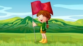 A girl holding a flag Stock Photos