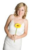 Girl Holding Flower Stock Images
