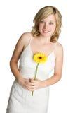 Girl Holding Flower Stock Images