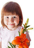 Girl holding flower Royalty Free Stock Photo