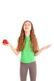 Girl holding fresh apple Royalty Free Stock Photography