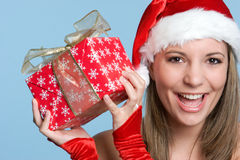 Girl Holding Gift royalty free stock photography
