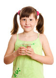 Girl holding glass of water Stock Image