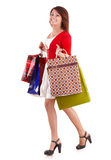 Girl holding group shopping bag. Stock Photography