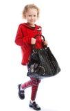 Girl holding a handbag Stock Photo