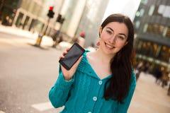 Girl Holding Mobile Phone Stock Photos